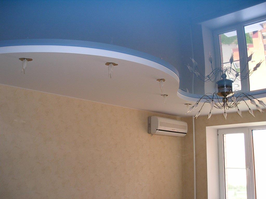 Гипсокартонные криволинейные потолки