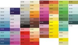 катлог цвета натяжных потолков